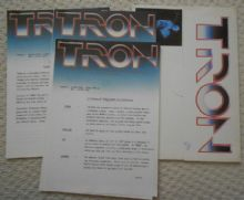 Tron, production notes with envelope, Jeff Bridges, Bruce Boxleitner, '82